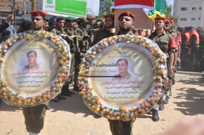 April 4 2013 Military Funeral for Abu Hamdiya in Gaza - Photo by PalToday - Photo 2