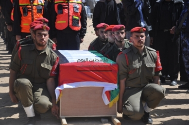 April 4 2013 Military Funeral for Abu Hamdiya in Gaza - Photo by PalToday - Photo 4