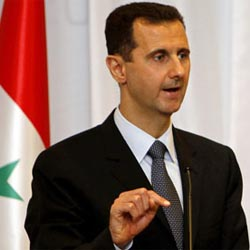 Assad tells Hezbollah's TV channel, Al-Manar missiles have arrived in Syria.