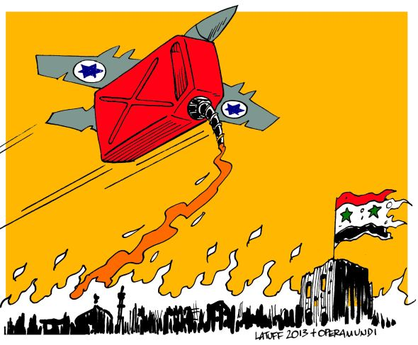 Image result for ISRAEL Syria War CARTOON