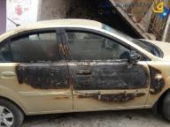 June 14 2013 Settler torch cars in Sheikh Jarrah - Photo by QudsNet