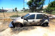 June 14 2013 Settler torch cars in Sheikh Jarrah - Photos by WAFA - 4