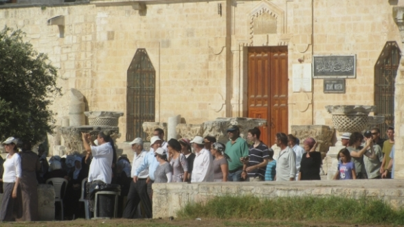 July 14 2013 Settlers storm and desecrate Al-Aqsa Mosque under protection of Israel army - Photo by SAFA