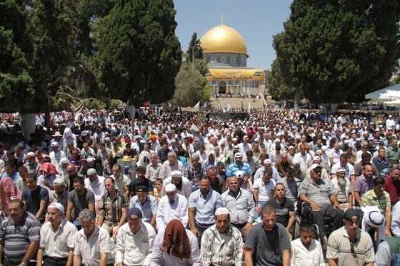 Aug 2 2013 - 400 thousand worshipers attend last friday of Ramadan prayers at Aqsa Mosque - Photo by Safa (17)
