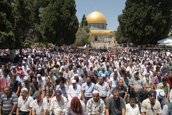 Aug 2 2013 - 400 thousand worshipers attend last friday of Ramadan prayers at Aqsa Mosque - Photo by Safa (21)