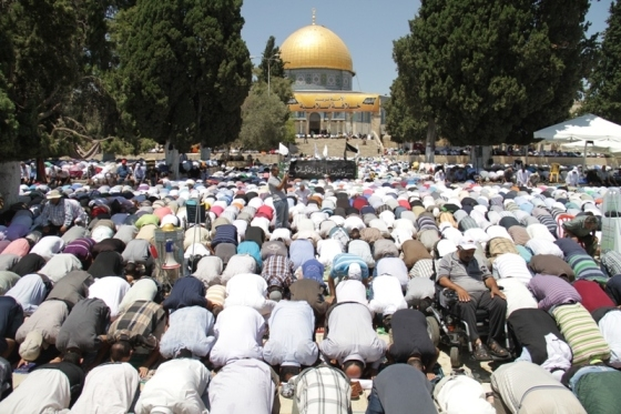Aug 2 2013 - 400 thousand worshipers attend last friday of Ramadan prayers at Aqsa Mosque - Photo by Safa (25)