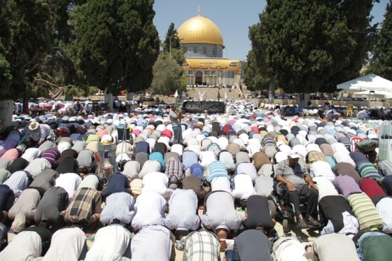 Aug 2 2013 - 400 thousand worshipers attend last friday of Ramadan prayers at Aqsa Mosque - Photo by Safa (29)