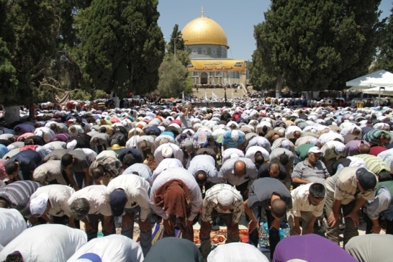 Aug 2 2013 - 400 thousand worshipers attend last friday of Ramadan prayers at Aqsa Mosque - Photo by Safa (33)
