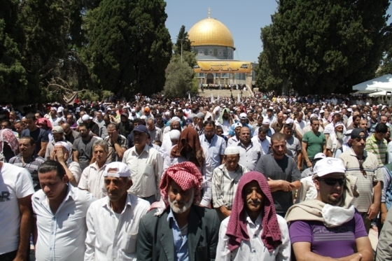 Aug 2 2013 - 400 thousand worshipers attend last friday of Ramadan prayers at Aqsa Mosque - Photo by Safa (39)