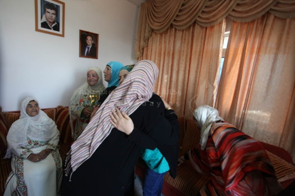 Esmat Mansour mother from Deir Jarir is preparing to receive him after 20 years behind bars - Aug 14 2013 Photo by PalToday