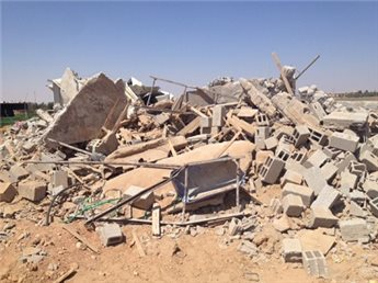 In August, Israeli forces destroyed three Palestinian homes in the Negev.