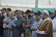 Saraya al-Quds Brigade Mujahideen during Eid prayers – Oct 15 2013 Photos by PalToday