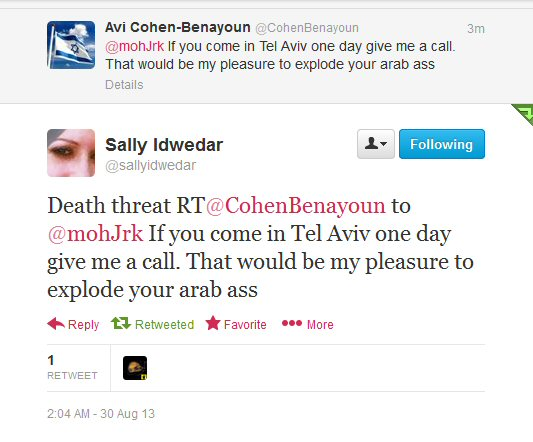 avi cohen death threat