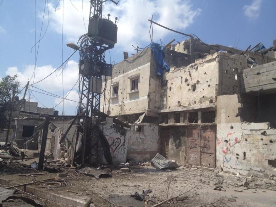Beltaji street, east of #Shujaiya during the 2 hours ceasefire via @ihazemi