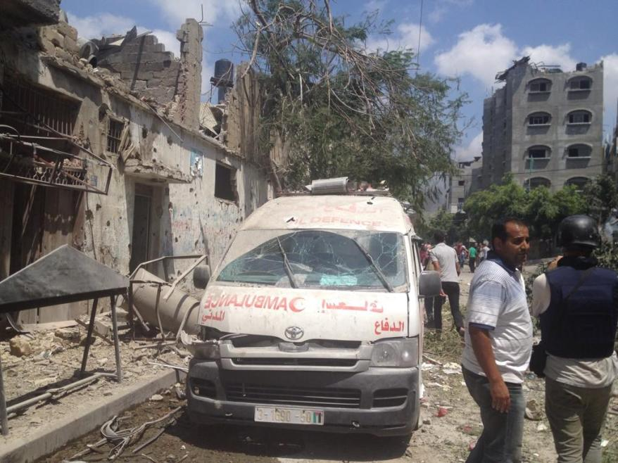 Beltaji street, east of #Shujaiya during the 2 hours ceasefire via @ihazemi