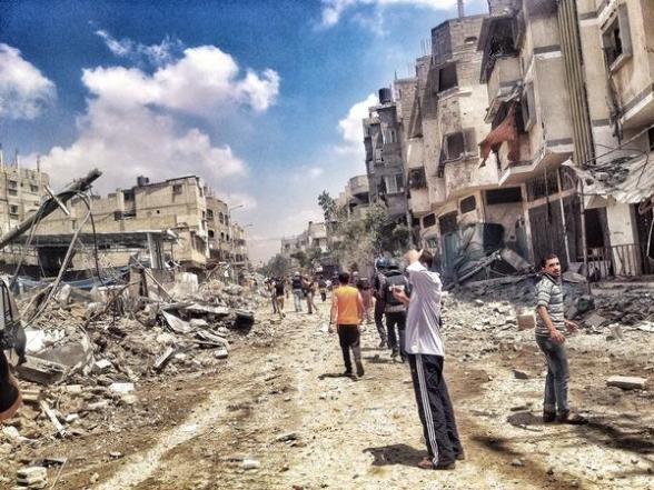 Immense destruction in Shuja'eya area via @janisctv