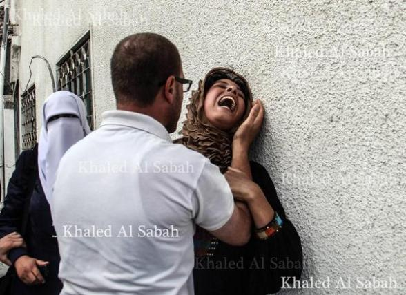 Mother of one of the children killed today. The agony is indescribable.. Photo via @palestinianism