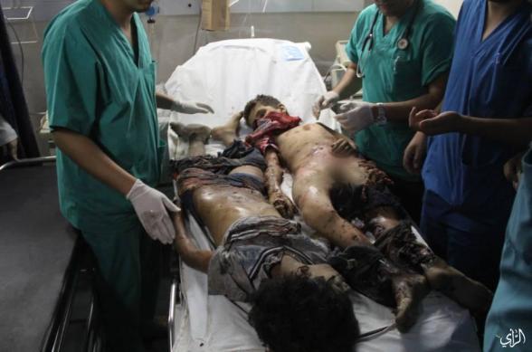 Children, murdered by Israel on the beach - Photo via PalInfoAr