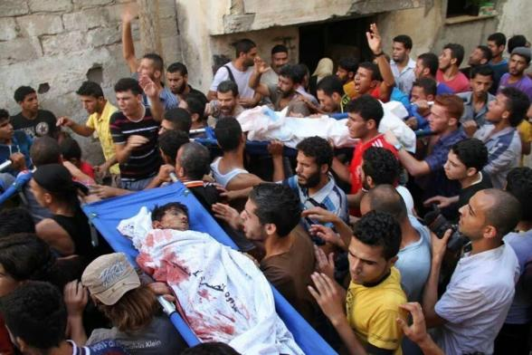Funeral of the slayed children today in Gaza July 16, 2014 Photo via @Palestinianism