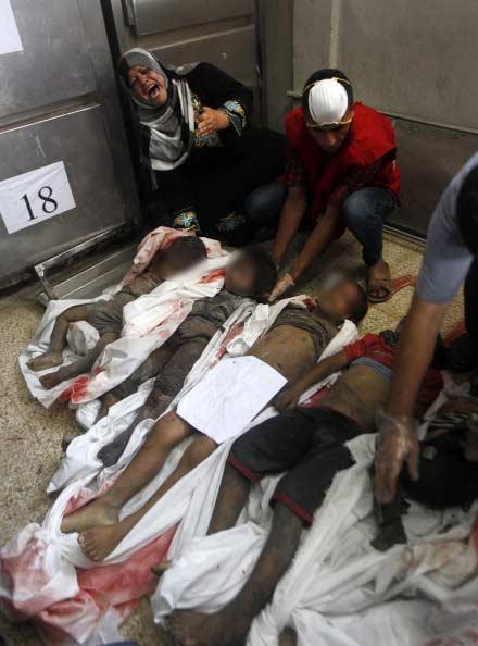 Killed by Israel. 13 members of the al-Najjar family - Photo via @Sabbah Report