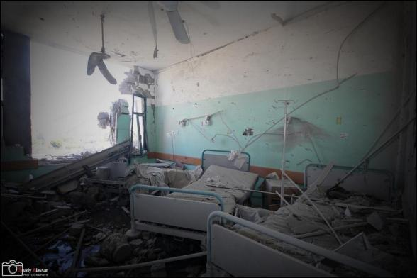 Fatal #Israeli strikes directly hit Al-Aqsa Hospital in #GazaStrip. 5 killed and more than 50 injured.  Photo via @GazanPal