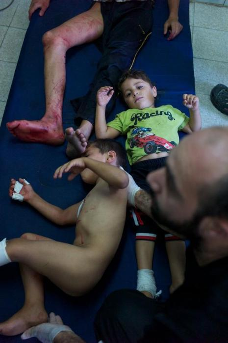 "After Israel bombed @UN shelter ""@danieljerivers: Kids lying stunned in pools of blood"