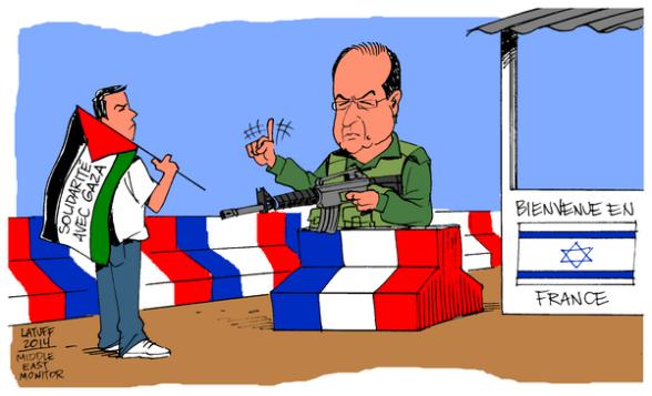 Carlos Latuff Cartoon 3 Gaza Under Attack Israel
