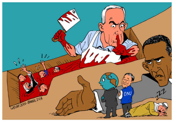 Cartoon Gaza Under Attack Israel 1 Carlos Latuff
