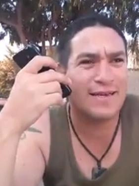 Israeli soldier making prank call to Gaza hotel