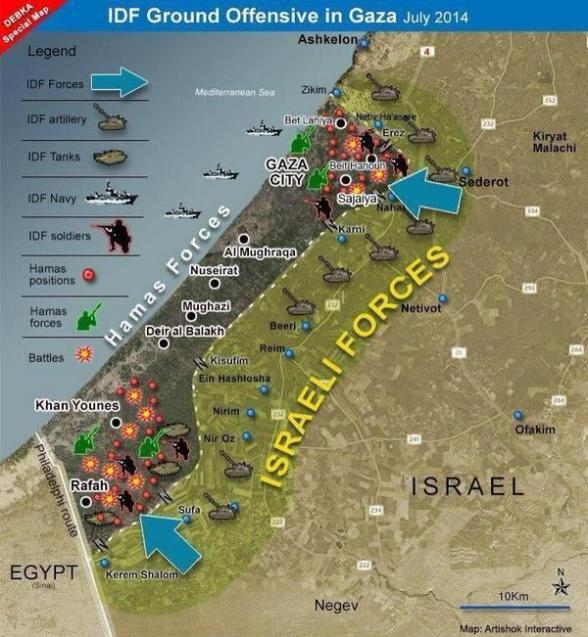 map gaza assault protective edge