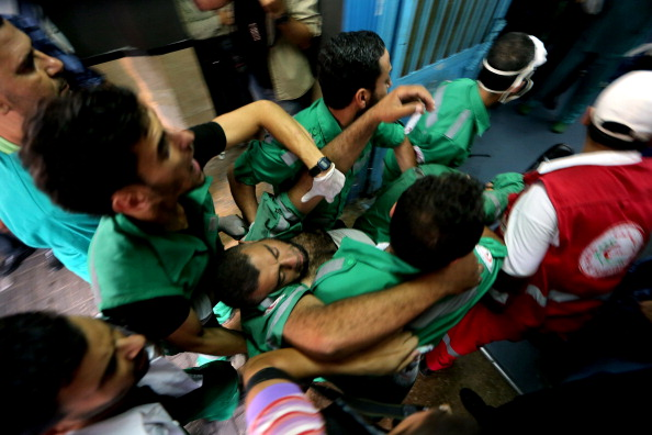 Palestinians injured by Israeli attacks taken to hospital