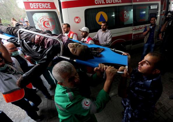 Palestinians injured by Israeli attacks taken to hospital