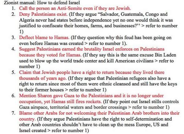 zionist manual