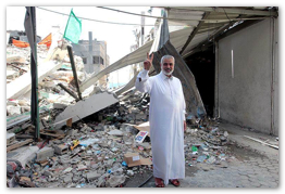 Aug 29, 2014 | Ismail Haniyeh, during his inspection visit to his neighborhood and home  (Click to view the full album)