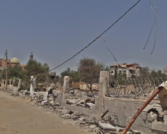 Cemetery destroyed in attacks
