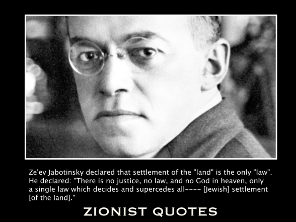 Ze'ev Jabotinsky  (Click to enlarge)