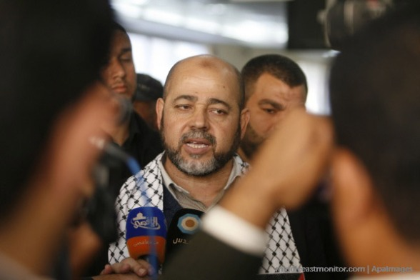 [File photo] Abu-Marzouk [Pictured above] accused the Palestinian unity government of delaying the implementation of measures that would address the conditions of Egyptians to open the border crossing to alleviate the suffering of Gaza's residents.